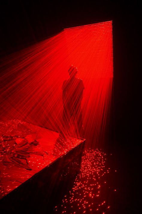 Li Hui installation at the SCAD museum. Li Hui installation at the SCAD museum.,Colour – Red Passion Li Hui installation at the SCAD museum. Images Esthétiques, Illusion Kunst, Aesthetic Colors, Aesthetic Dark, Red Rooms, Red Walls, Vintage Design, Light Art, Light And Shadow