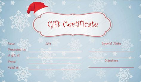 Free Holiday Gift Certificates Templates to Print Gift - certificate printable templates