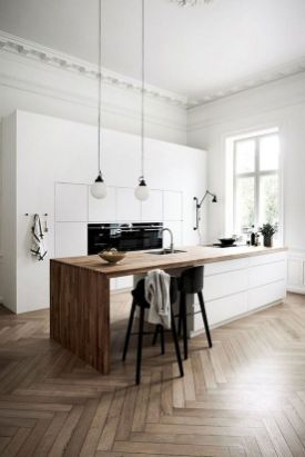 Scandinavian Kitchen Design Interior Of The All White And Beautiful Tiny Kitchen In 2020 Classic Kitchen Design Scandinavian Kitchen Design Modern Kitchen Design