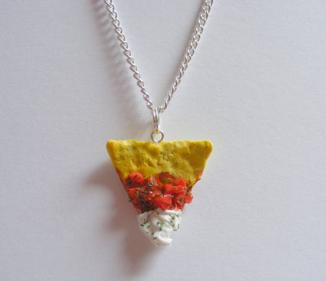 Food Jewelry Nacho and Salsa Miniature Food Necklace by NeatEats