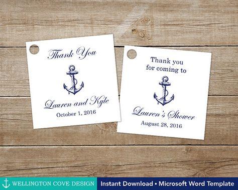 printable nautical favor tags editable template for microsoft word