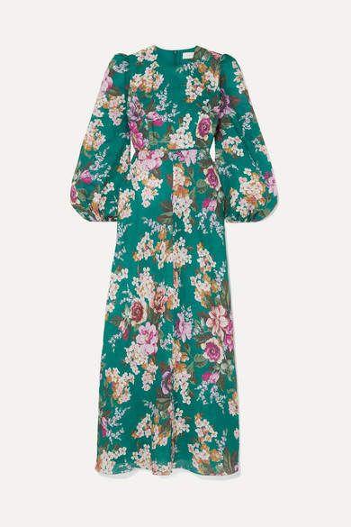 Zimmermann - Allia Floral-print Linen Maxi Dress - Emerald
