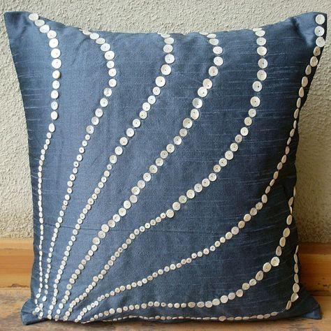 Federe Cuscini 50x50.Progettista Blu Notte 50x50 Cm Cuscini Art Silk Lancia Cuscino
