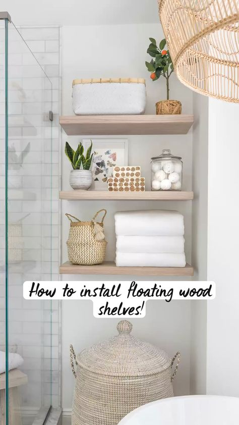 How To Install Floating Wood Shelves!