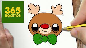 Resultado De Imagen Para Reno De Navidad Kawaii Dibujos Kawaii