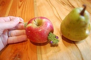 Use real fruit to explore the Very Hungry Caterpillar..
