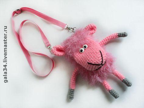 купить сумочка чехол для телефона овечка вязаный чехол для