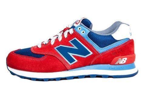 chaussure new balance rouge bleu