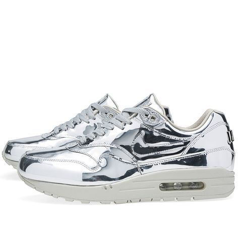 fe83a280 Nike Air Max 1 SP 'Liquid Silver' holy moly these are cool wish I had a  pair.