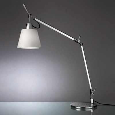 Artemide Tolomeo 26 Desk Lamp With Aluminum Base Shade Color Silver Fiber Desk Lamp Table Lamp Lamp Sets