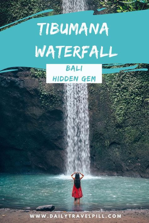 Are you looking for the best waterfalls in Bali? Tibumana Waterfall is an amazing hidden waterfall near Ubud which is definitely worth a visit. Discover this incredible place and find out more about the entrance fee, transport and how to get to Tibumana Waterfall Bali. #baliwaterfalls #hiddenwaterfallsbali #bestofbali #tibumanawaterfall #explorebali
