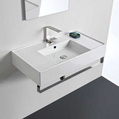 Scarabeo By Nameeks Ceramic 32 Wall Mounted Bathroom Sink With