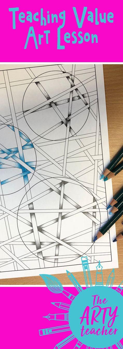 Strips & Circles Value/Tone Lesson