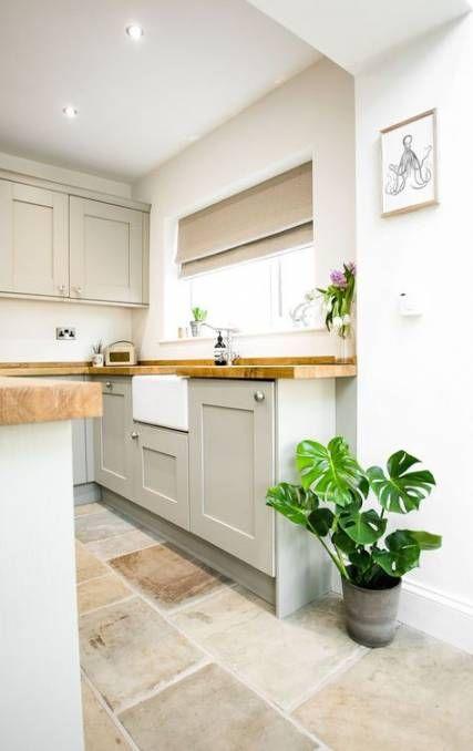 Kitchen Floor Tile Diy Butcher Blocks 58 Ideas Kitchen Diy Kitchen Remodel Small Small Farmhouse Kitchen House Flooring