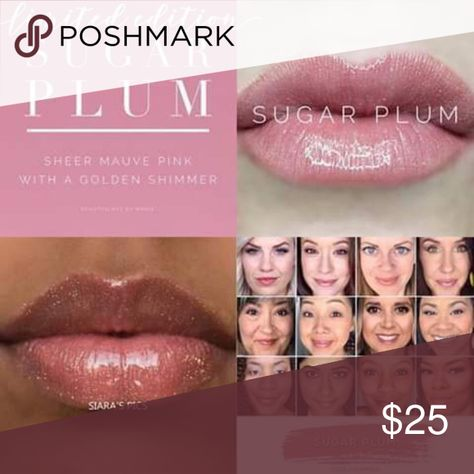 Limited Edition Sugar Plum Lipsense Cool sheer mauve pink with slight golden shimmer finish. Increases cellular renewal.  Lead free, cruelty free, gluten free, non gmo & vegan. Smudgeproof, water resistant long lasting color. LipSense Makeup Lipstick