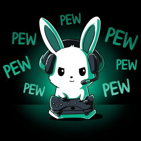 Pew Pew Bunny t-shirt TeeTurtle