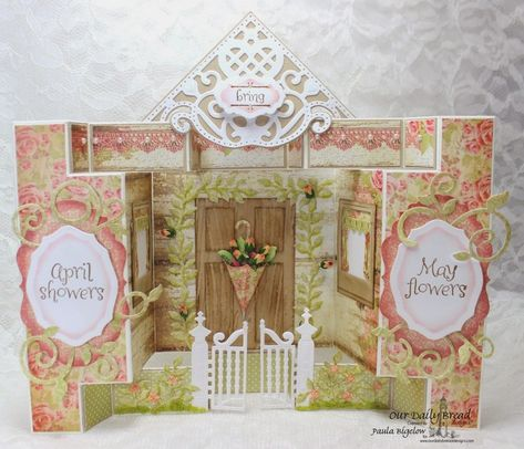 April Showers House by laughingstamper - Cards and Paper Crafts at Splitcoaststampers