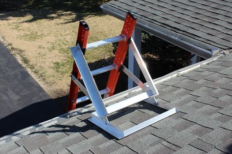 Locking Ladder Self Adapting Roof Wall Ladder Stabilizer By American Safety Equipment Kickstarter Ladder Stabilizer Wall Ladders Ladder