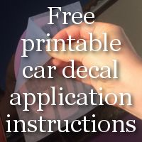 Free Printable Car Decal Instructions For Your Silhouette Cameo - Custom vinyl decal application instructions pdfcare and instructions es signs