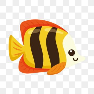 Pretty Goldfish Ornamental Fish Through Fish Clipart Cartoon Fish Lovely Png And Vector With Transparent Background For Free Download Cartoon Fish Fish Vector Cartoon Goldfish