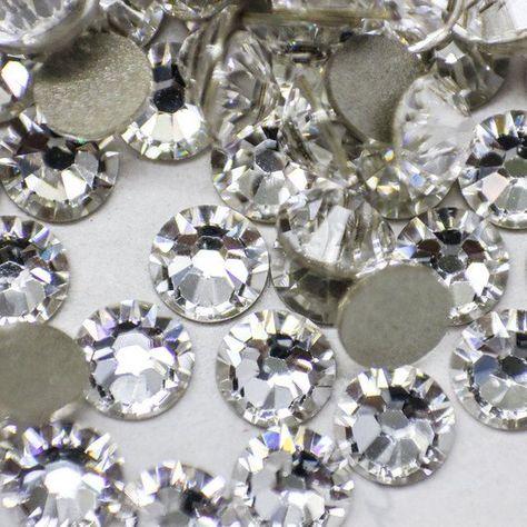 35 x 14mm CLEAR SQUARE Rhinestone Diamante Stick On Self Adhesive GEMS Diamonte