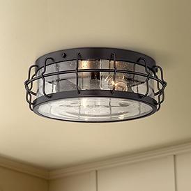 Aya 13 1 4 Wide Bronze Caged Metal Ceiling Light Ceiling Light