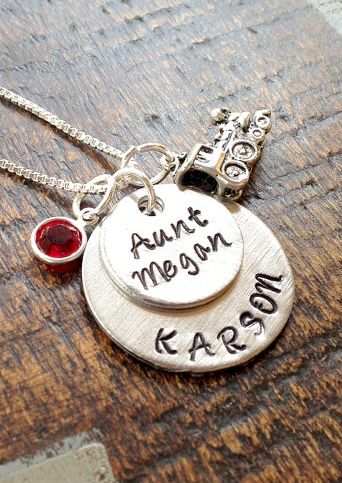 106 best the auntie in me images on pinterest auntie quotes new aunt gifts for her from the baby personalized aunt name necklace with birthstone by negle Image collections