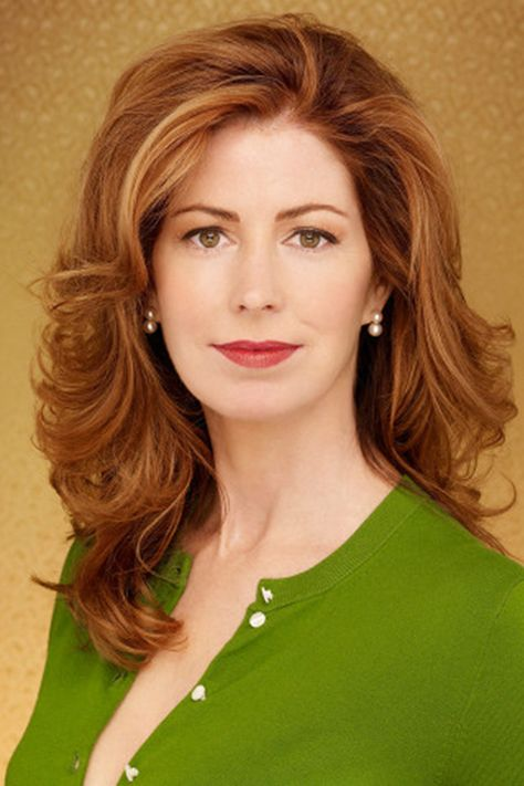 Custom Dana Delany's Hair Style Long Wavy Lace Hair 100% Human Hair Celebrity Wigs 16 Inches