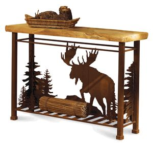 Beau Moose Sofa Table | New Livingroom | Rustic Cabin Decor, Home Decor, Cabin  Furniture