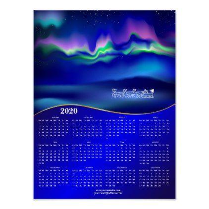 Northern Lights Christmas 2020 Northern lights Christmas Calendar 2020 Poster | Zazzle.