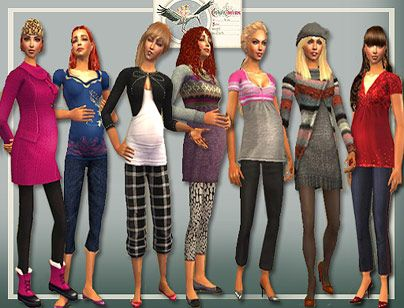 Teen maternity clothes for the sims 2