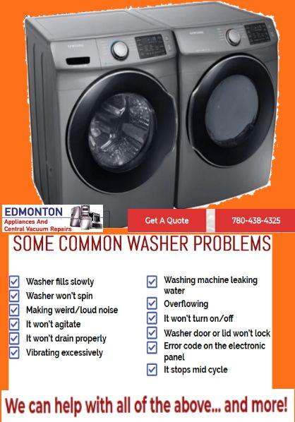 Some Common Washer Problems Repair Washer Vacuum Repair