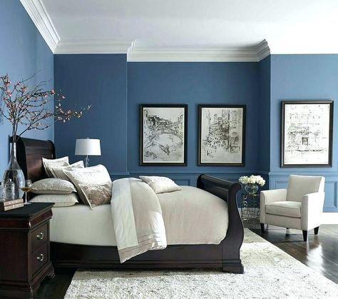 38 Ideas Dark Wood Furniture Bedroom Ideas Navy Blue In 2020 Blue Bedroom Colors Blue Bedroom Paint Living Room Colors