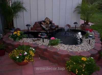 Backyard Pond Or Raised Bed Using A Large Plastic Container Http://www.