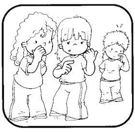 No Hablar Mal De Una Persona Dibujo De Ninos Jugando Deberes De Los Ninos Discriminacion