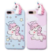 Cheap unicorn phone case, Buy Quality case for iphone directly from China phone cases Suppliers: Cute toy unicorn phone Cases For iphone X 6 7 8 Cute Cartoon soft silicon case back cover
