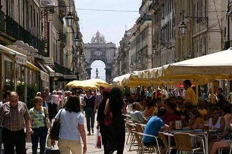 Lisbon main street, Portugal