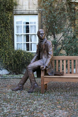 Darwin - Christ College Cambridge, UK - Darwin was a student at Christ Church.
