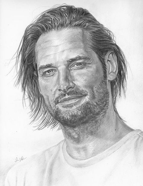 Drawing Print of Sawyer (played by Josh Holloway) from LOST