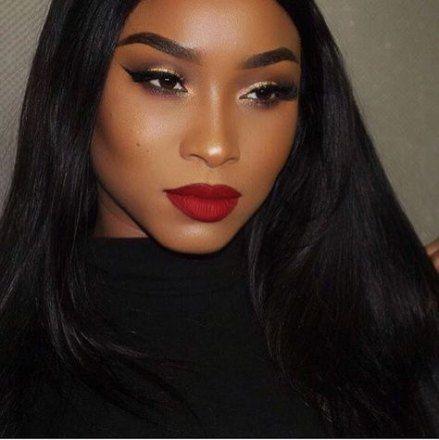 15+ trendy makeup ideas for prom red lipsticks dark skin #makeup ...
