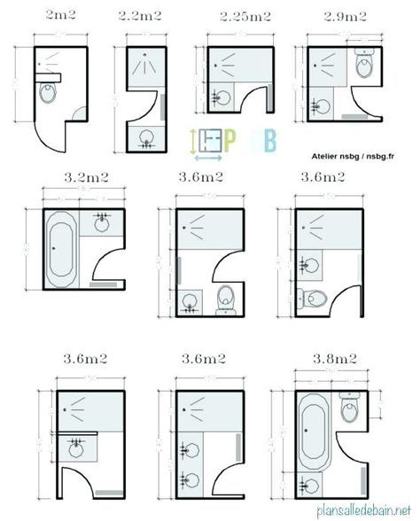 Plan Salle De Bain 7m2 Small Bathroom Plans Small Bathroom