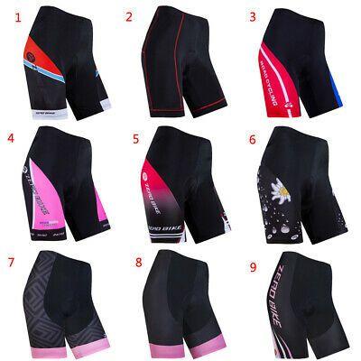 Women/'s Reflective Cycling Clothing Set Bike Jerseys /& GEL Padded Shorts Kits
