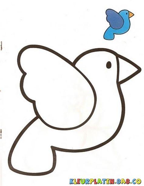 kleurplaten vogel op tak