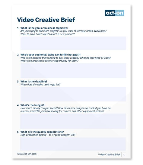 The Best Way To Write A Creative Brief Includes Templates