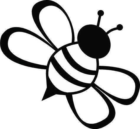 Line Drawing Simple Bee