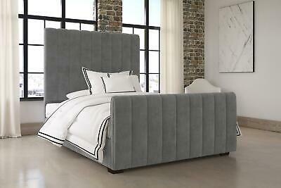 Dhp Dante Upholstered Velvet Platform Bed Frame Grey Velvet Full Size Bed 29986413802 Ebay In 2020 Upholstered Platform Bed Upholstered Beds Platform Bed Frame