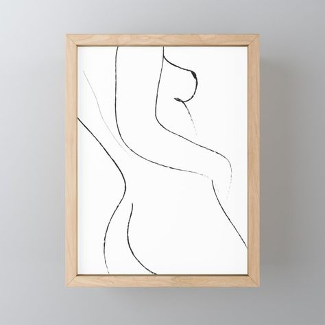 Buy Minimal Line Drawing 2 Framed Mini Art Print by dada22. Worldwide shipping available at Society6.com. Just one of millions of high quality products available.
