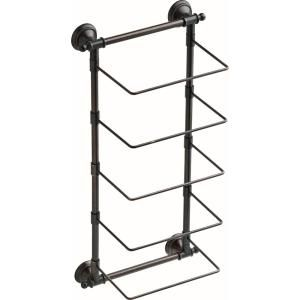 Neatly Store Multiple Towels At A Time With This Delta Towel Rack The Traditional Decorative Design Of This Piece Offers In 2020 Wall Bar Towel Storage Bathroom Decor