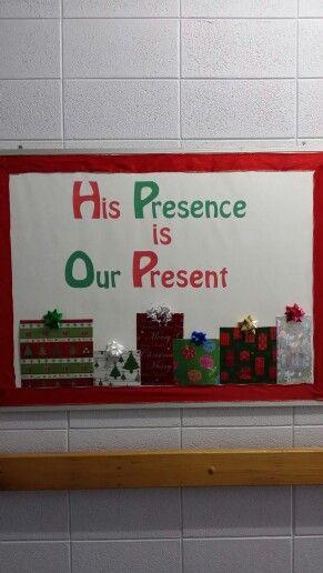 Church Christmas bulletin board