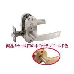 ドアノブ マツ六 mj24レバー 表示錠 トイレ錠 サテンゴールド